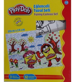 Set pictura PLAY-DOH PLAY-YB007: canava 30x24cm + 12 carioci/set