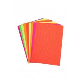 Accesorii creatie COLORARTE carton ondulat A4 diverse culori neon 10/set