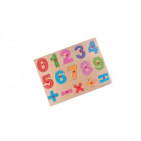 Puzzle lemn cu capse 2KB037 CIFRE,+/-x:
