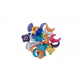 Accesorii creatie COLORARTE plastic cercelusi 15mm diverse culori 40 bucati/set
