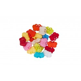Accesorii creatie COLORARTE plastic nasturi fluture 10mm diverse culori 10 bucati/set