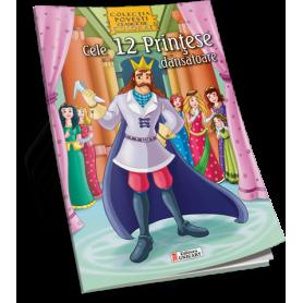 Carte de colorat A4 Unicart Cele 12 Printese dansatoare