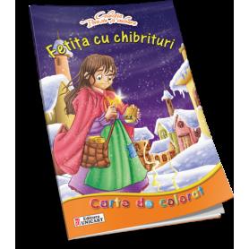 Carte de colorat A4 Unicart Fetita cu chibrituri