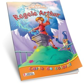 Carte de colorat A4 Unicart Regele Arthur