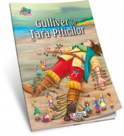 Carte de colorat A5 Unicart Gulliver in tara piticilor