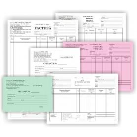 Tipizat factura A5 cu TVA 3 exemplare,autocopiative