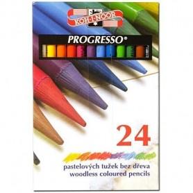 Creioane colorate fara lemn 24 culori KHN PROGRESSO-K8758-24