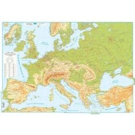 Harta EUROPA fizica 140x100cm AMCO plastifiat