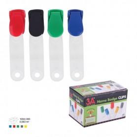 Clips plastic pentru ecuson ARK 1092 diverse culori