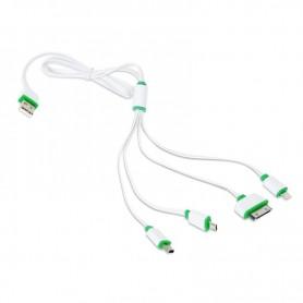 Cablu OMEGA USB 4in1 microUSB-miniUSB - Phone OUCK4WG 42814 alb/verde