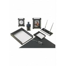 Set birou Riga BESTAR 8146FDB lemn aluminiu negru