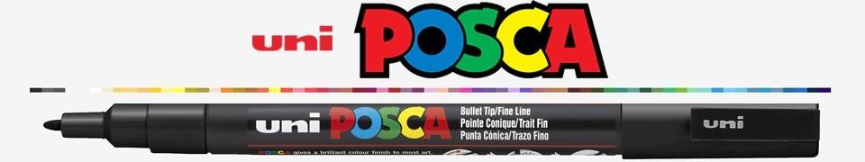 Markere Uniball cu creta lichida si cu vopsea si textmarkere